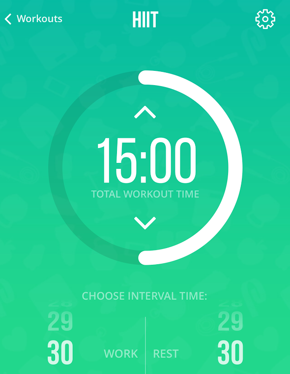 HIIT timer from Sweat With Kayla
