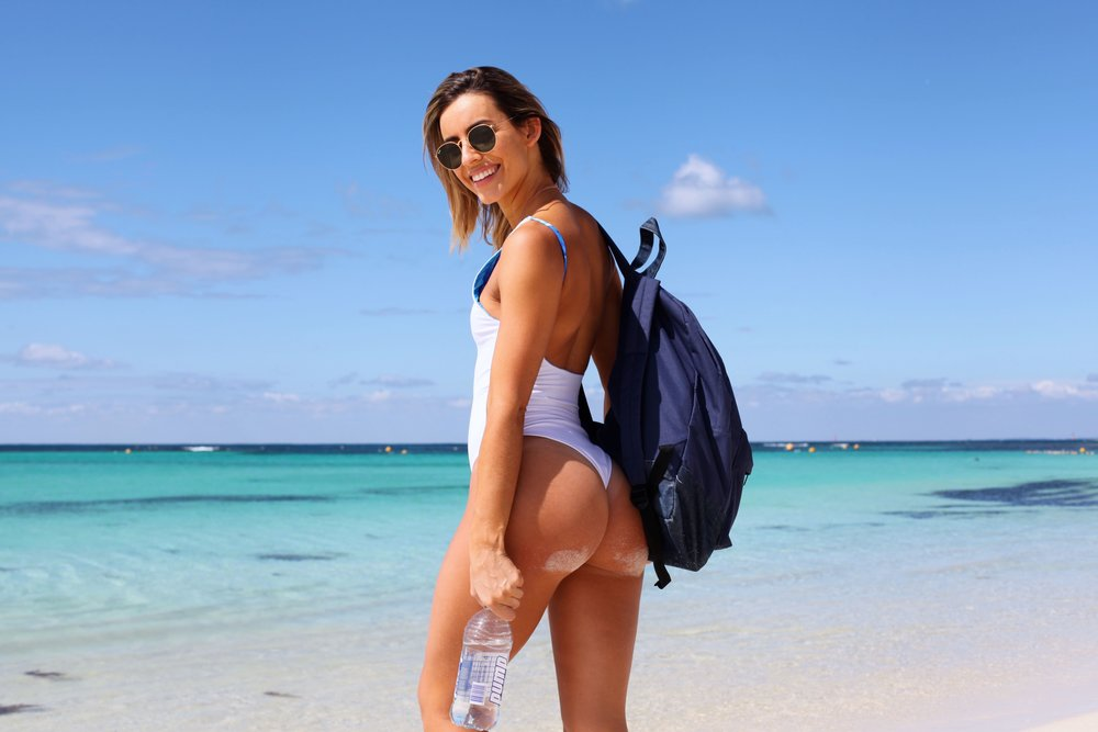 Don't you know the cool girls wear their backpacks like this? Kini by Kulani Kinis.