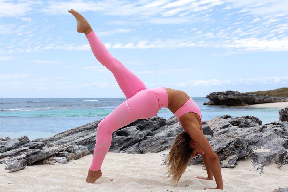 Being all yoga zen-like in my Aim'n set.
