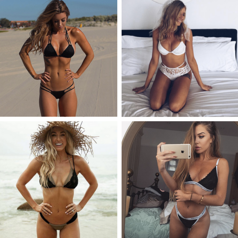 Babes who've had their boobs done: L-R  Steph Pacca, Beck Lomas, Ashy Bines and Laura Amy