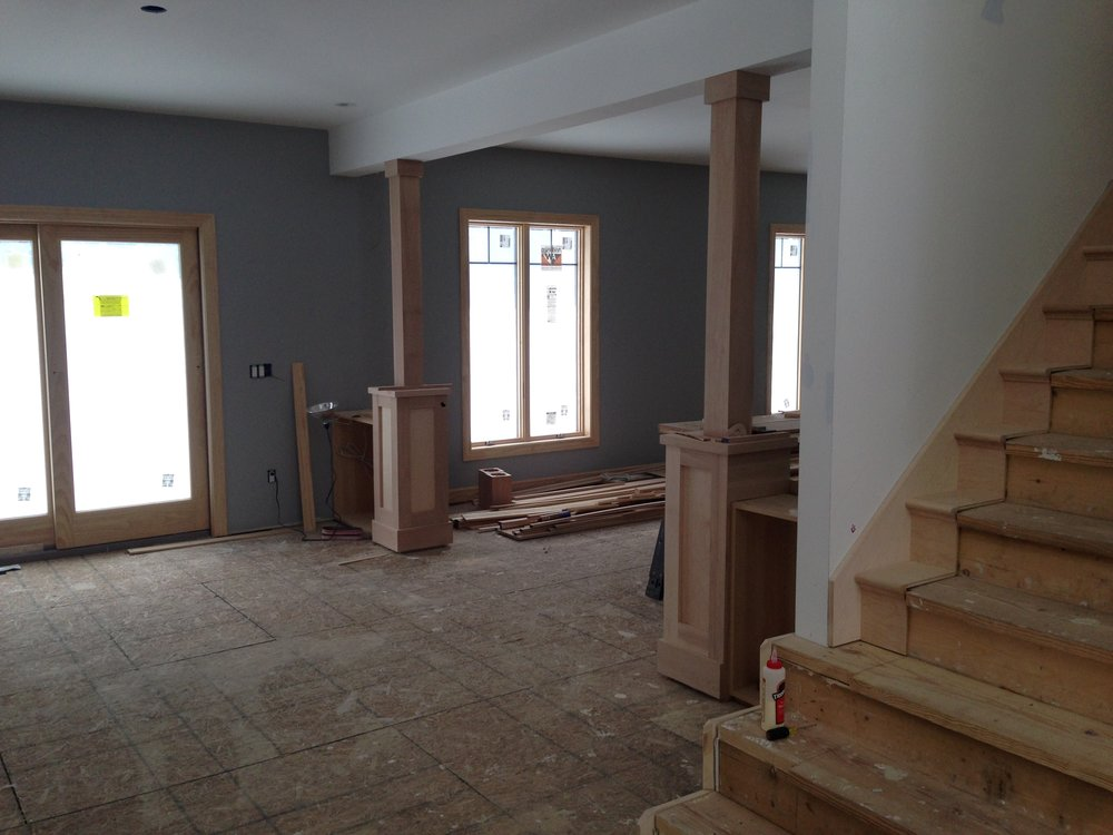 Basement Construction - Brighton Residence