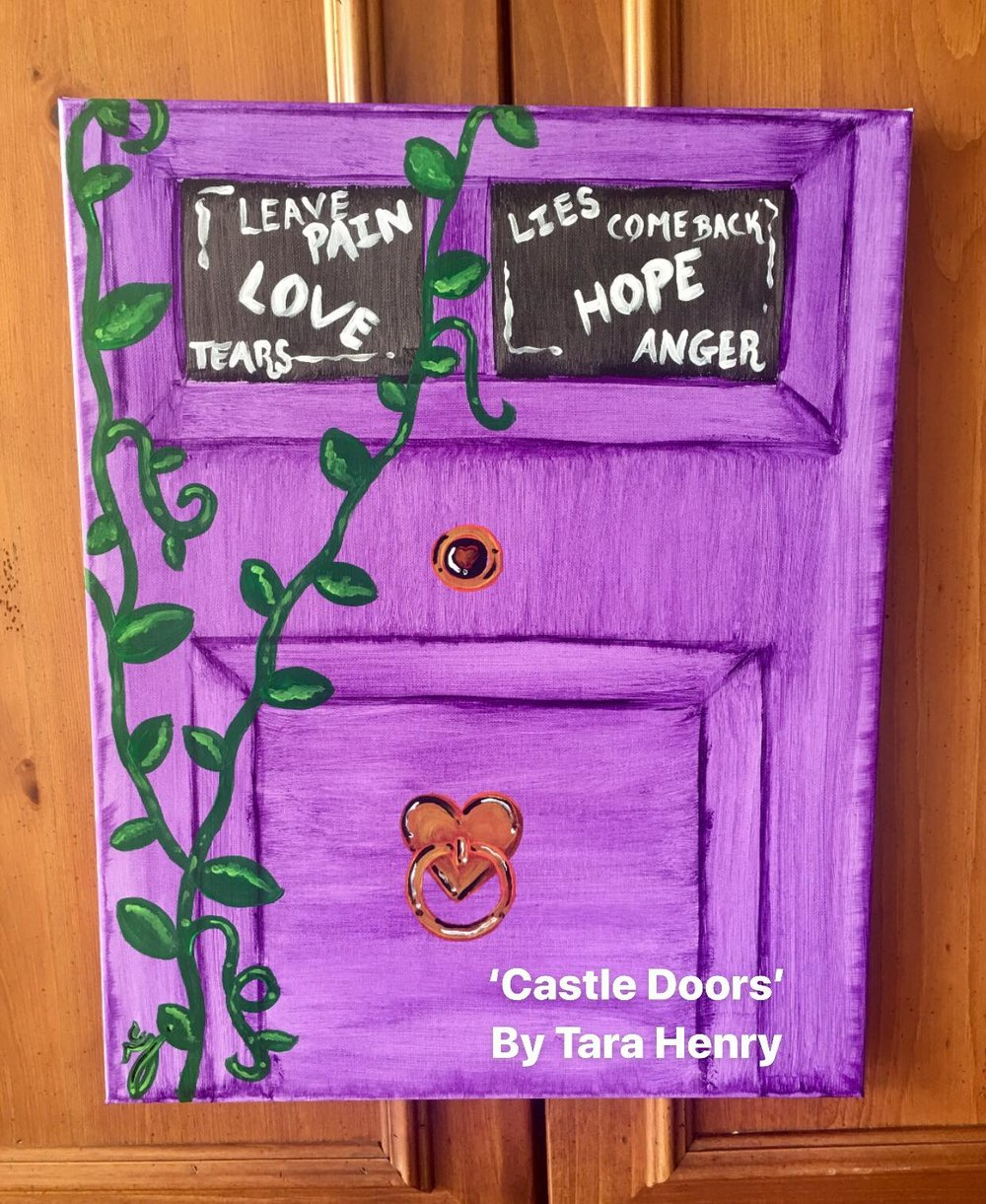 ART  - Here is your chance to color outside of the lines. Reserve your seat to paint your version of 'Castle Doors' Inspired by the Book-