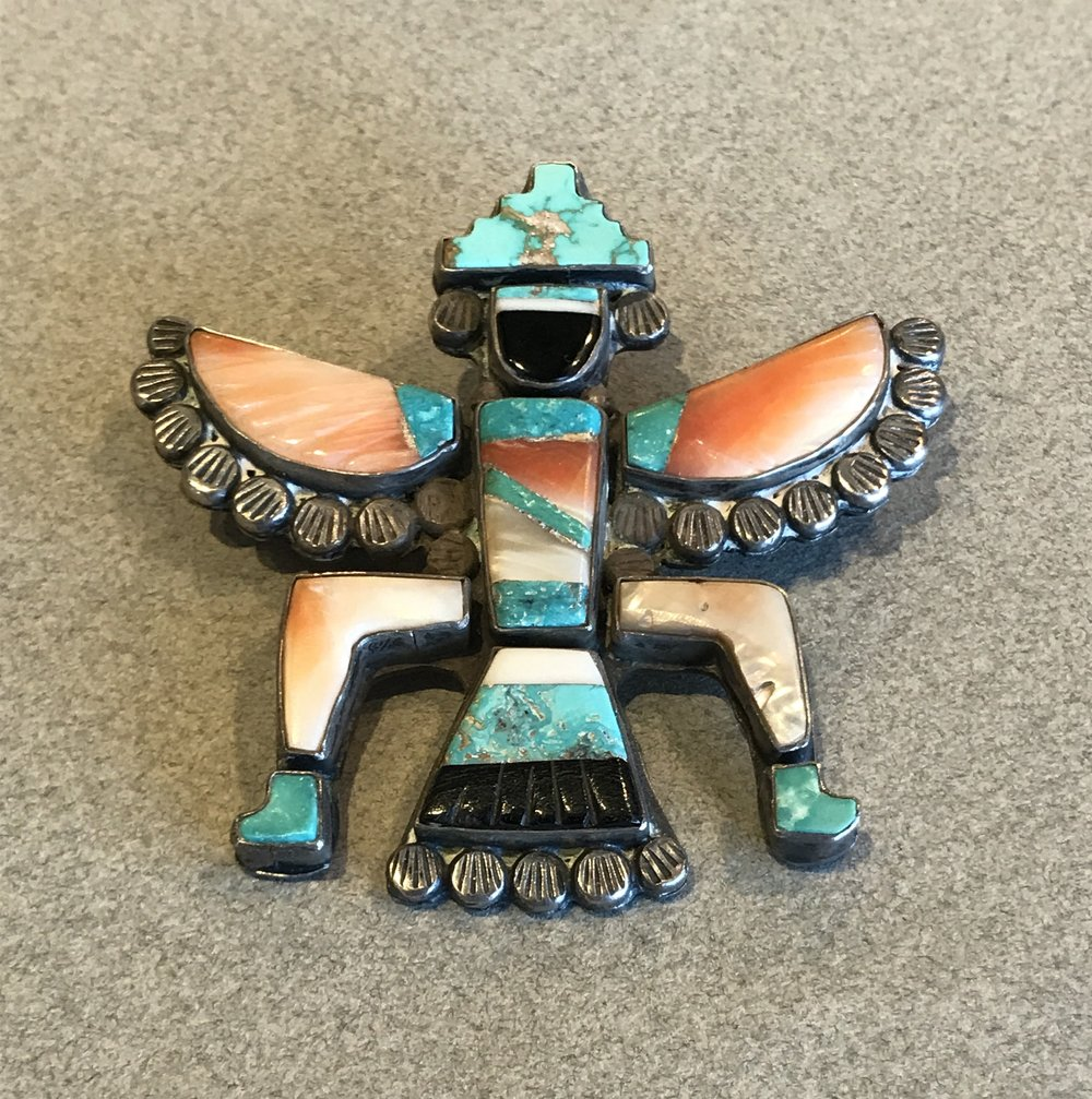 Zuni Knifewing God Pin