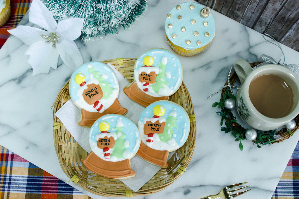 North Pole Snow Globe Cookies   Homemade by Rachel G.