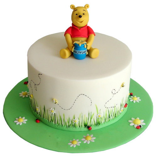 Winnie The Pooh Garden Themed Cake The Premium Made To Order Cake