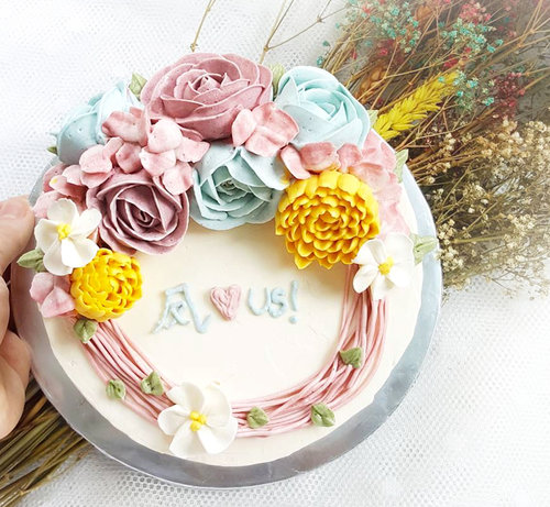 FLORAL BIRTHDAY CAKE DESIGN 2 Buttercream Floral 15 A