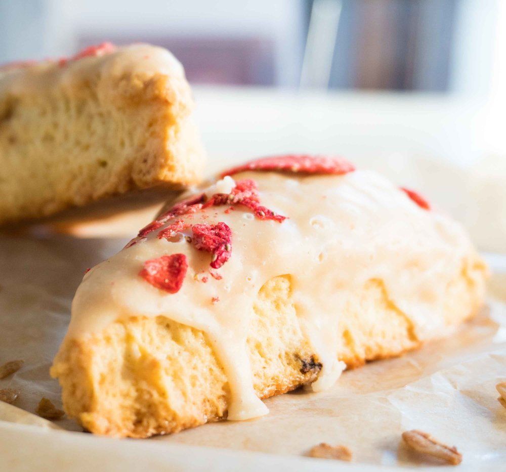 Strawberry Short Cake Scones -