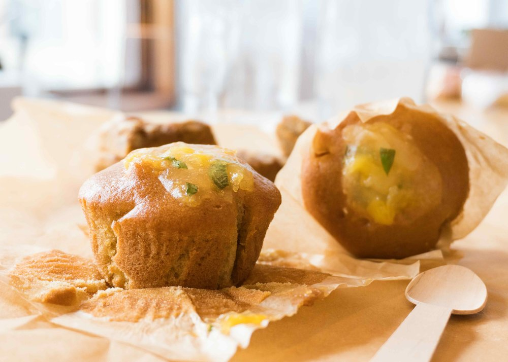 - Pineapple Basil Muffin