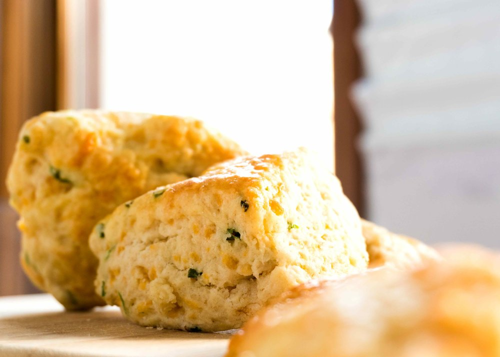 - Chedder-Chive Scone