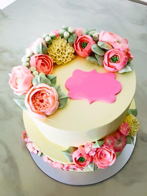 FLORAL BIRTHDAY CAKE DESIGN 1