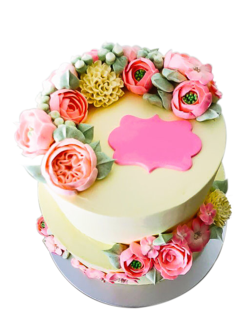 FLORAL BIRTHDAY CAKE DESIGN 1 The Premium Made To Order Cake