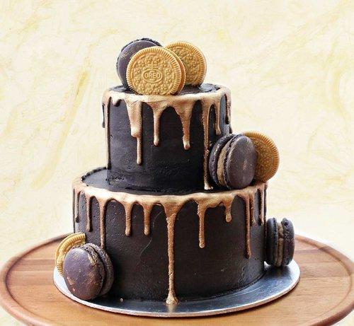 CHOCOLATE CARAMEL DRIP CAKE 2 TIER The Premium Made To Order