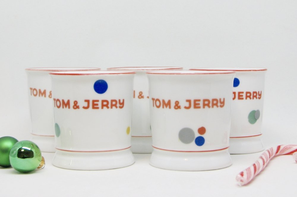 Made in Czechoslovakia back in the day, these mugs are mod and adorable.