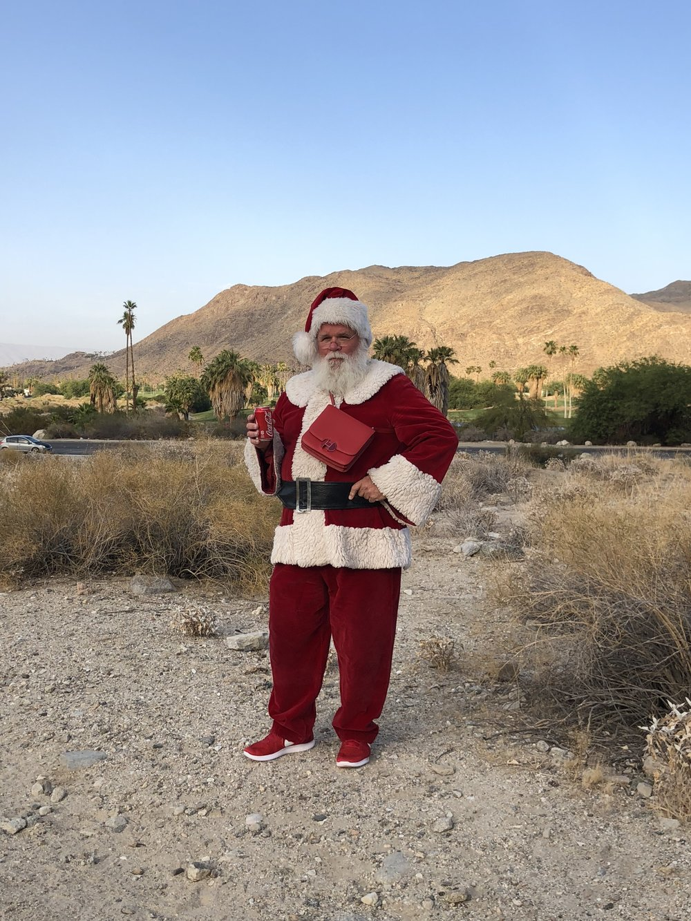 / - Styling Santa Claus for Buffalo Zine in Palm Springs with photographer Bruno Staub