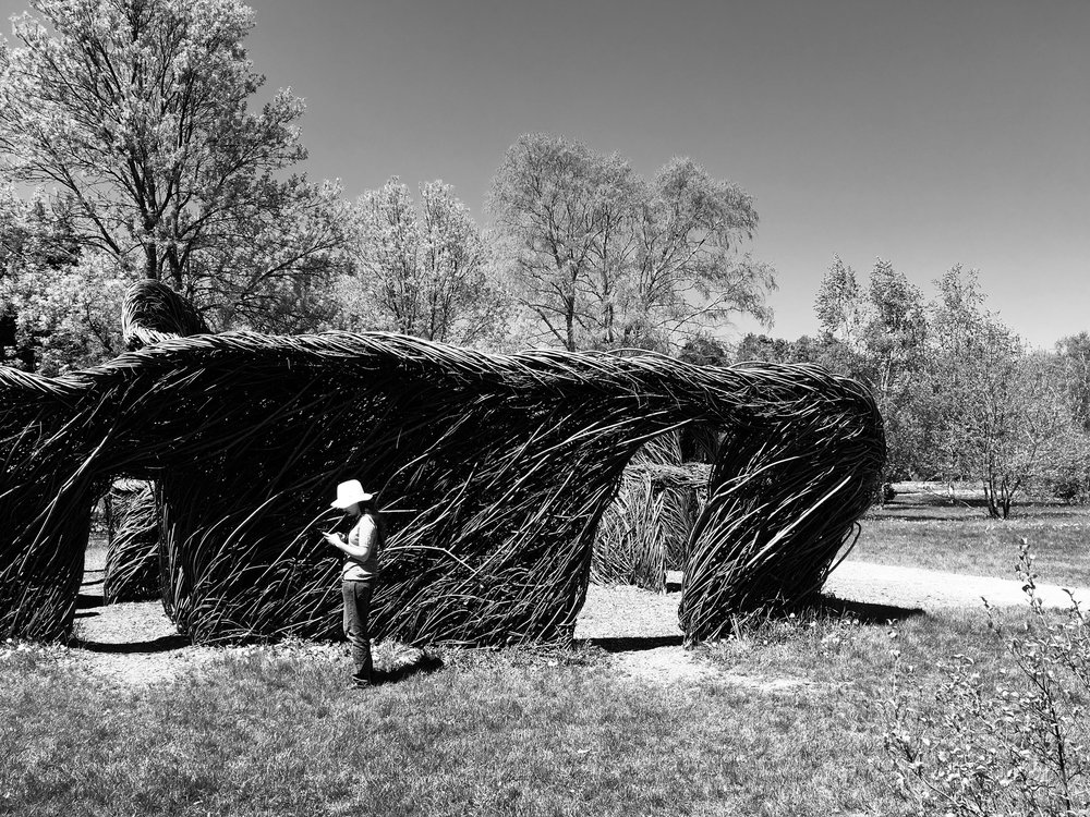 / - Location scooting / Patrick Dougherty land art.