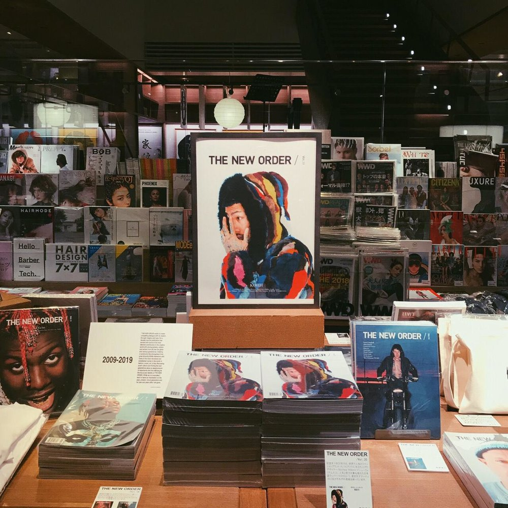 10th Anniversary installation at T-site (Tsutaya Daikanyama) featuring back issues and exclusive merchandise /
