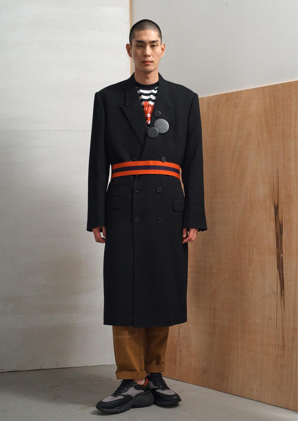 Coat - John Lawrence Sullivan T-Shirt - Stussy Trousers- Pronounce Shoes - Pregis Belt - Stylists Own