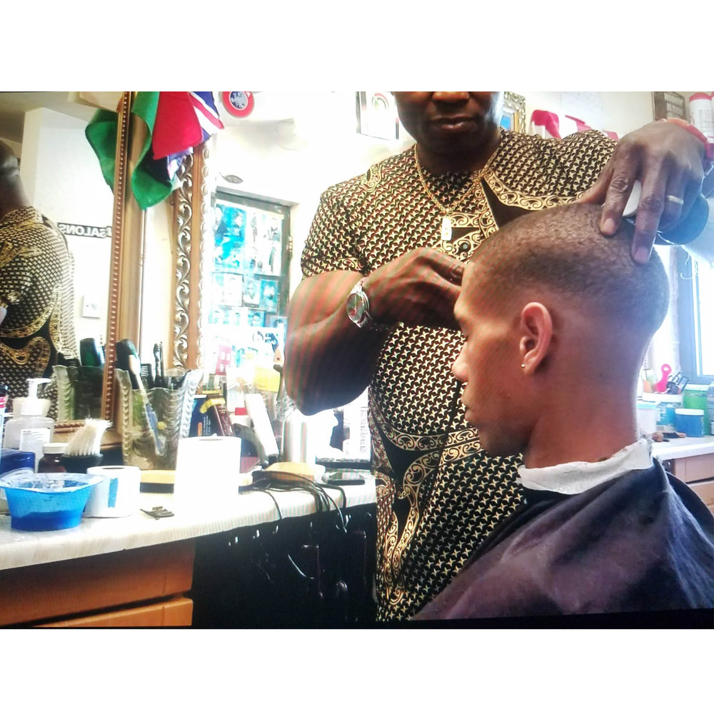 / - I went to London to make a film for HRS shoes. Here is Lucien Clarke at the barbers.