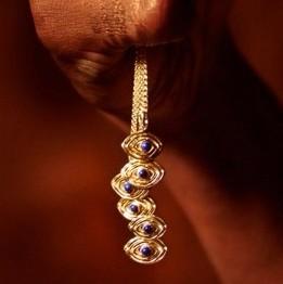 Amhara Talisman 18K Gold and Lapiz Lazuli