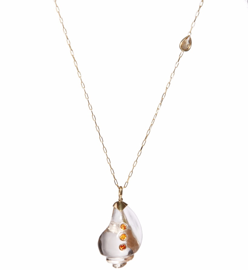 Tsura Illuminate Collection; 18K Gold Shankha Talisman Necklace