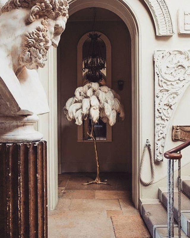 Possibly one of our favourite pieces 😍 the ostrich feather lamp 🌟 #AsiatiqueCollections