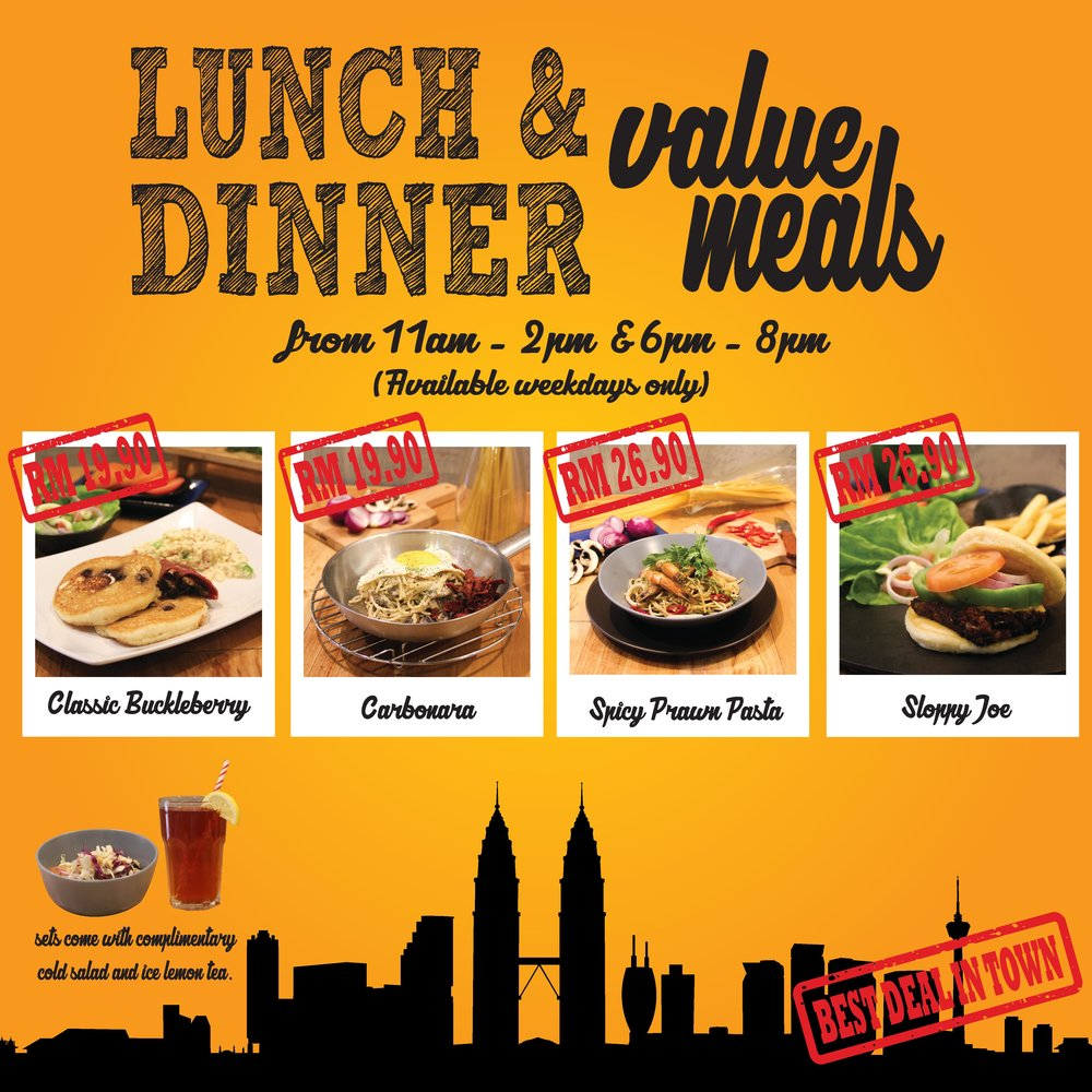PHOP Nu Sentral Lunch and Dinner Value meals!