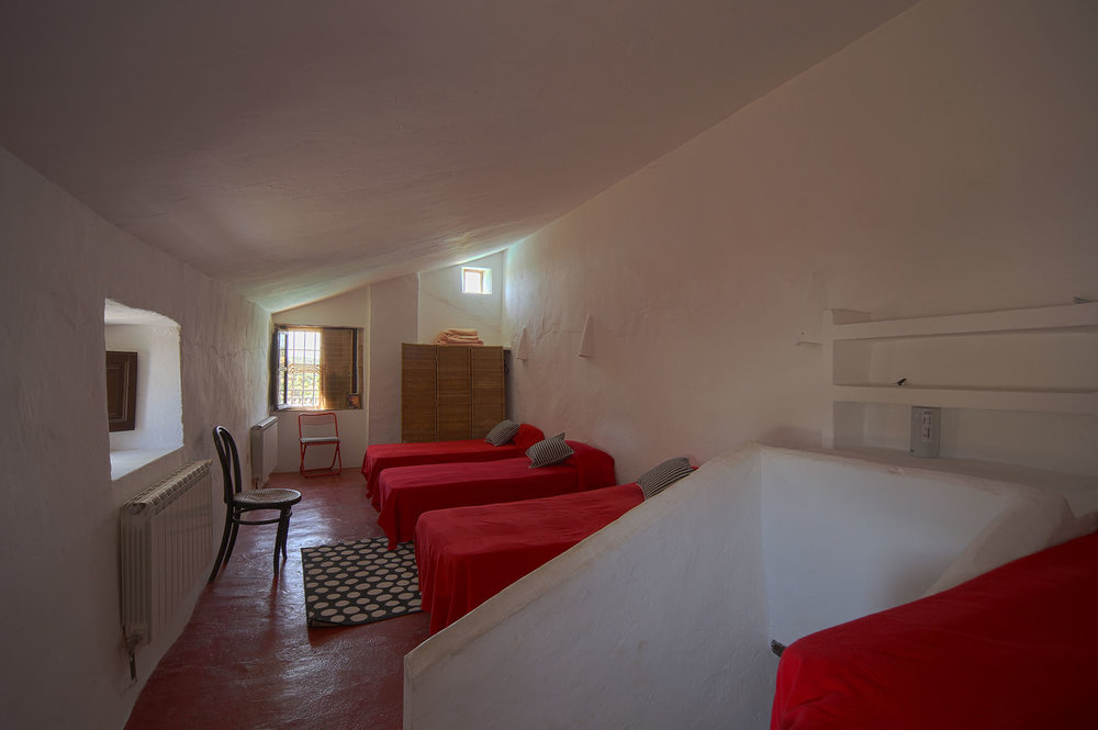 Dormitory style bedroom