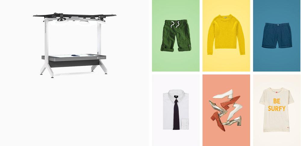 StyleShoots Horizontal - Aufnahmen von Liegewaren für eCommerce mit automatischer Hintergrundentfernung und extrem einfach zu verwenden.Mehr Erfahren