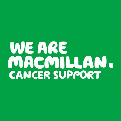 Click on the macmillan image to go to their site if you wish to get further information of the fantastic support they offer.