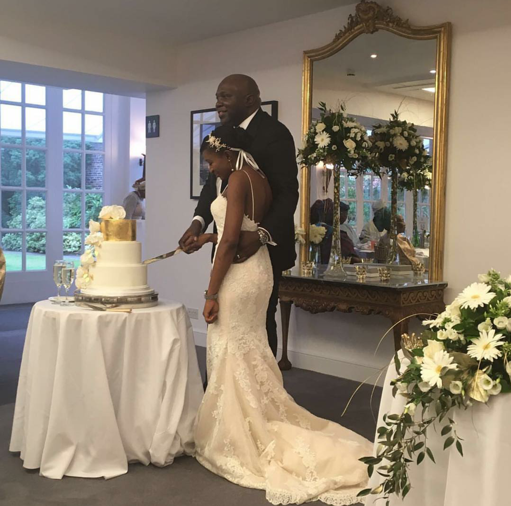 """Thank you soooo much for our cake. It was absolutely beautiful"" Kehinde & Oladele"