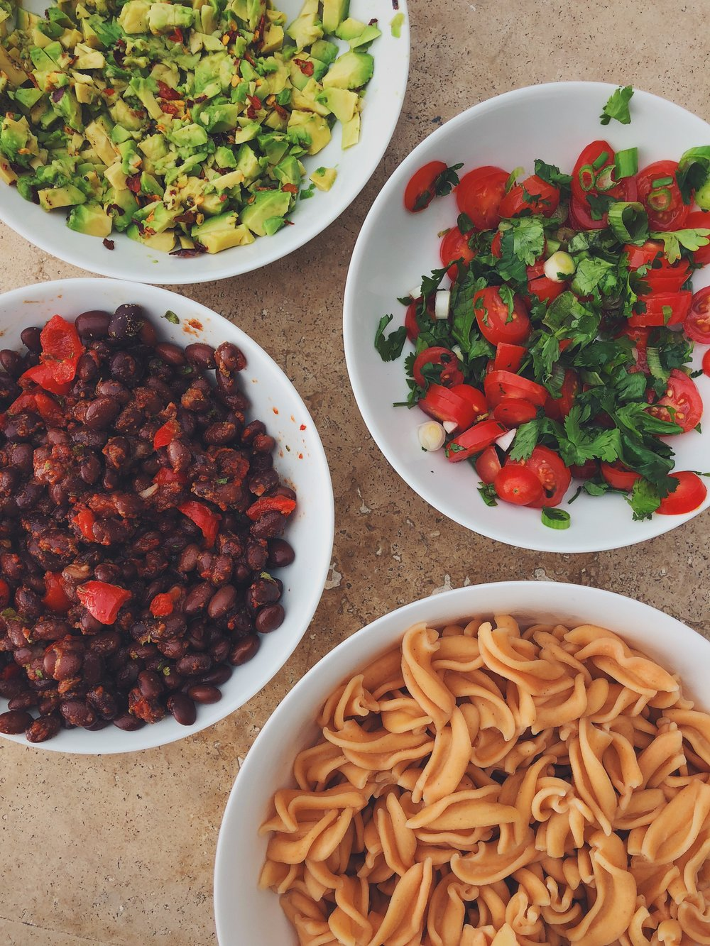 Getting ready for the big chow with plant-based, wholefood, nutritious ingredients.