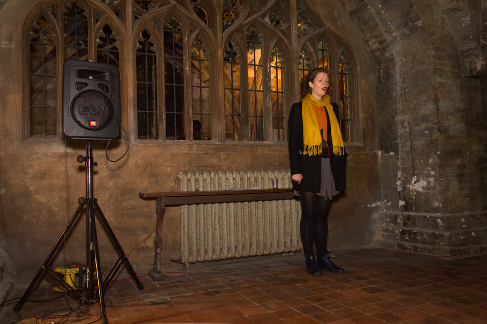 Lucinda May  Lift , 2016, voice recording from the crypt played every 30 minutes