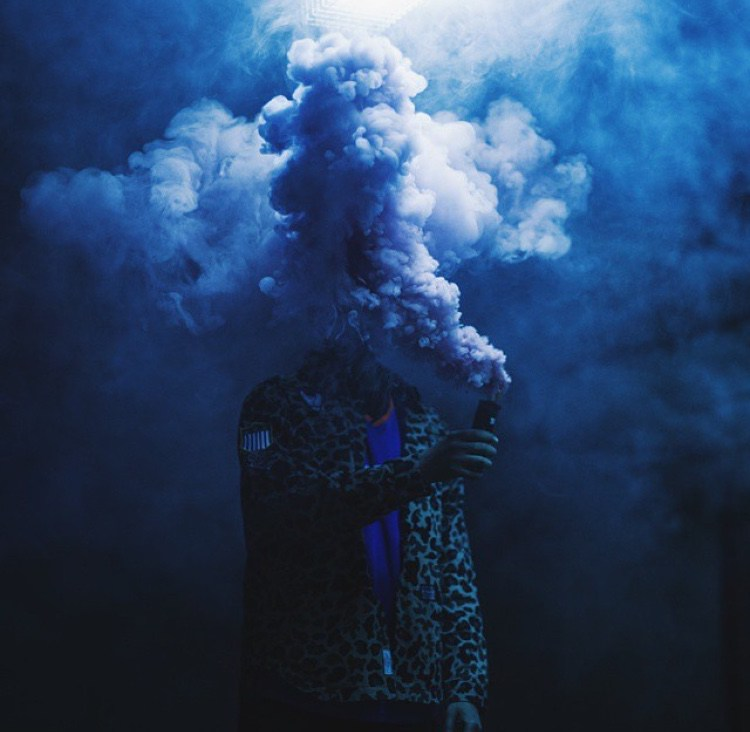 Brilliantly dystopian photo by  Enola Gaye  - what eye-catching a way to sell smoke grenades