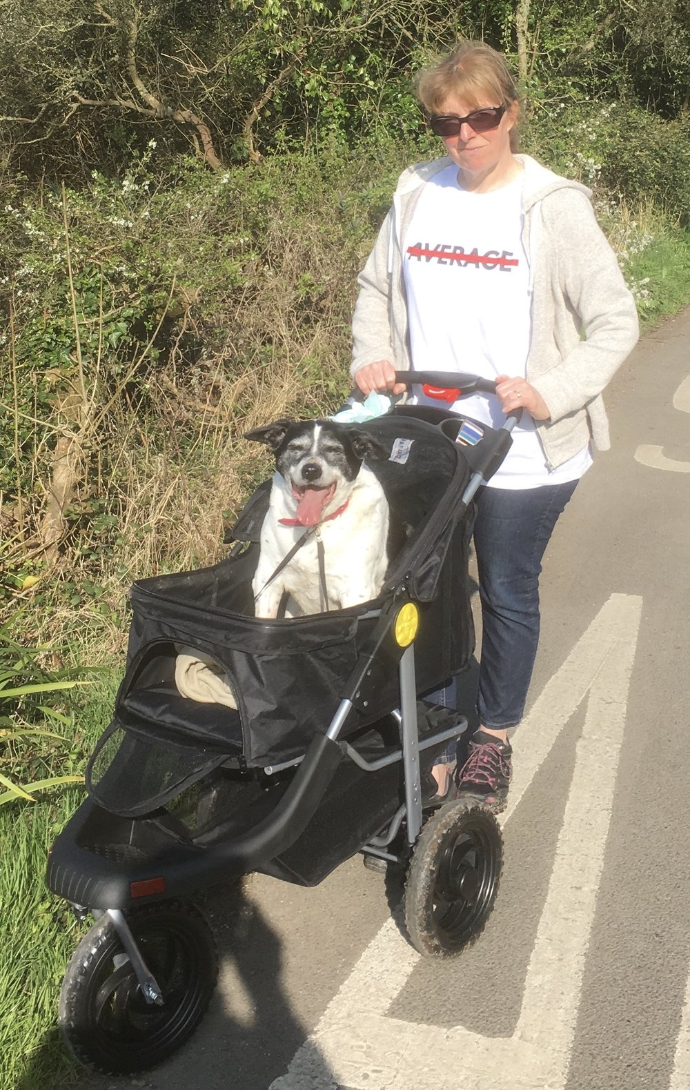 Her buggy means Maisie gets to keep enjoying trips out with her less than average owner