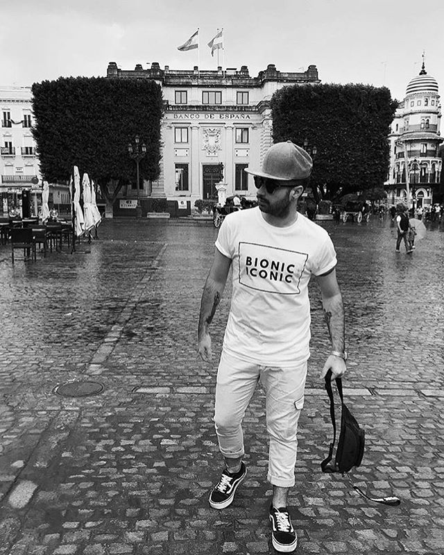 Bionicpeople: Seville  Featuring: @nandofarrugia  ALERT: Online sales end 15 Nov.  T Shirt: Organic cotton, ethically and sustainably made. Free worldwide delivery. Use the size guide on site for your perfect fit.  Order at: www.bioniciconic.com