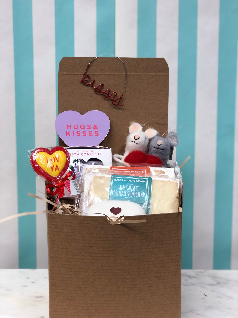 Medium Box Of Love- $45.99   Show her you care with our medium box of kisses, complete with our Love Felt Mice!