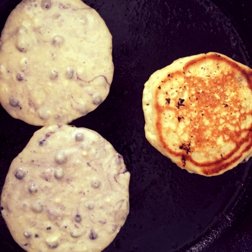 maine blueberry pancake recipe | cooking camping breakfast