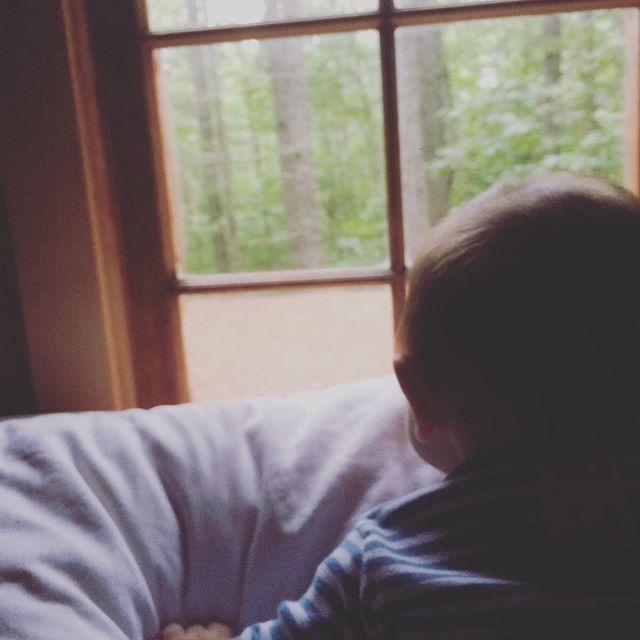 The Hide-Away's littlest #happycamper ❤️ #maine #mainelyglamping #inthewoods🌲