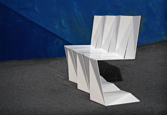 Folded chair (prototype in production)   - Amalgama Studio