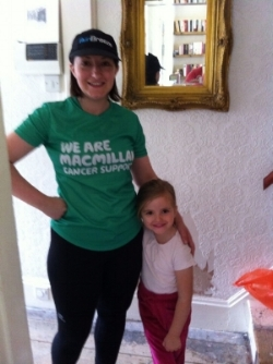 Me in my Macmillan day's with my little person. That hallway still hasn't changed!