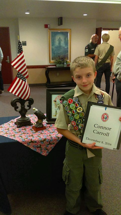 Connor earned his eagle scout doing a big project for us!
