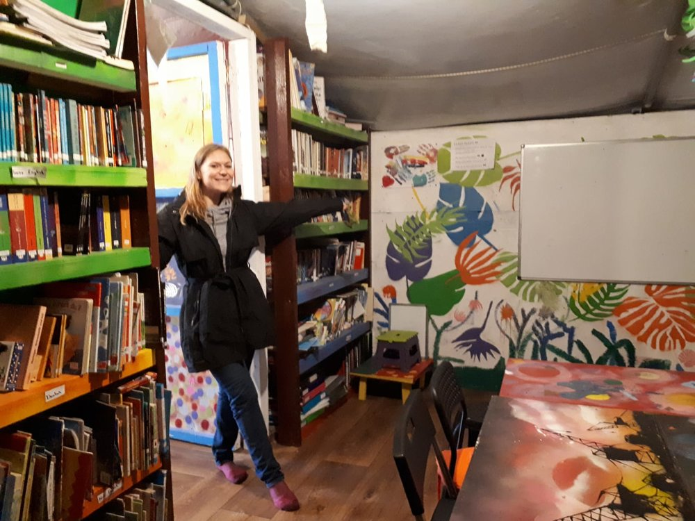 Ally in the LHI library in Serres, Greece