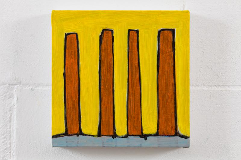 Hold on acrylic on canvas  26cm x 26cm 2015