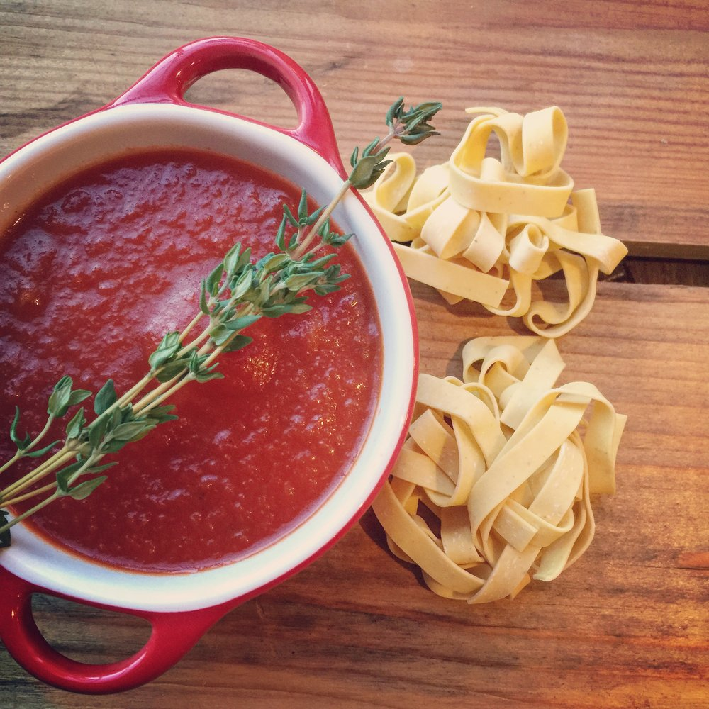 Classic Tomato Sauce with Bone Broth recipe made with bone broth created by Bone Brewhouse.