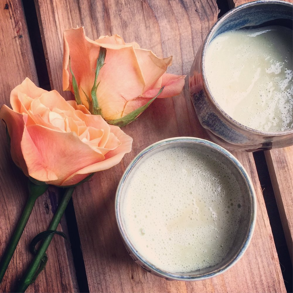 Bone Broth Avocado Latte recipe made with bone broth created by Bone Brewhouse.