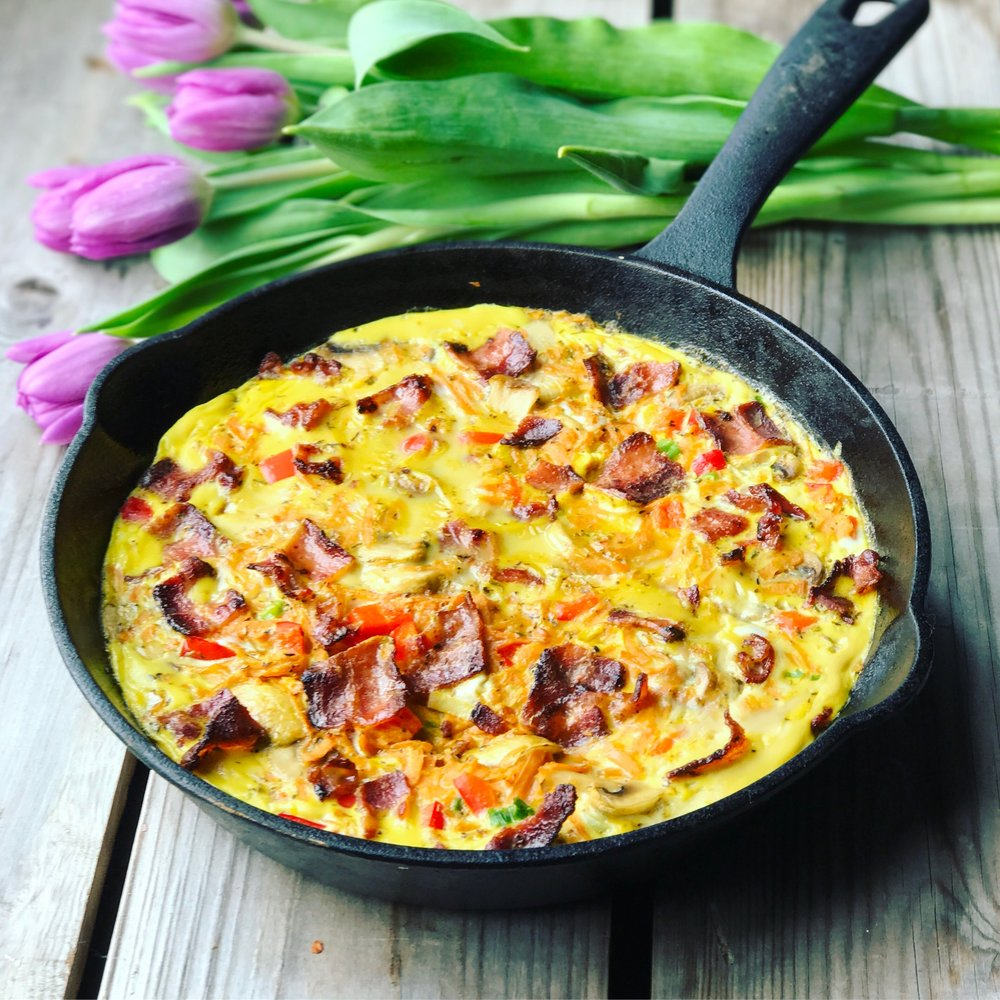 Bone Broth Frittata recipe made with bone broth created by Bone Brewhouse.