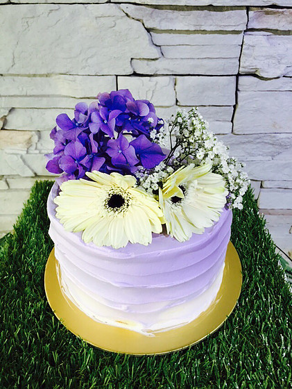 Purple Ombre (With Flowers)