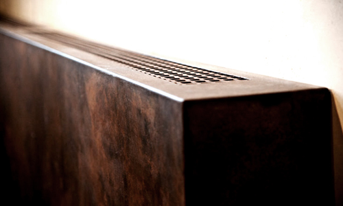 Project: Blackened steel radiator cover