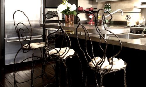 Project: Sculptural metal -Cast Bronze Barstools
