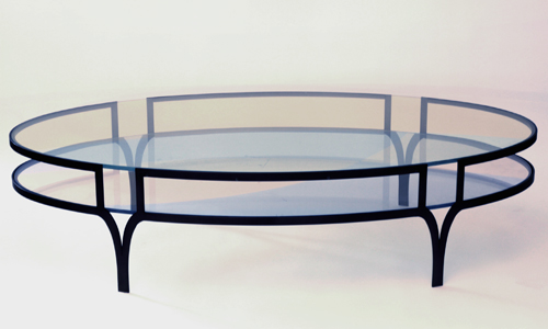 Project: custom Prismatic glass coffee table